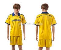 High  Quality   Chelsea   Away  Yellow    2015    training     Football Jerseys    Soccer uniforms    Kit  Free Shipping