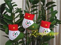 Christmas Ornament Handmade red and white Sock Xmas Favor Favour Decor