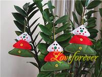 Christmas Pine Tree Ornament Handmade Santa Claus Xmas Favor Favour Decor