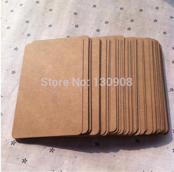 6x10cm think Blank 350gsm kraft cards DIY greeting cards blank Kraft postcards Free shipping(China (Mainland))