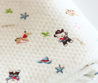 Little bear horse and star  Bamboo fiber fabric Size 50cm*180cm 1pcs  for Baby clothes Kids Baby Bedding Textile For Sewing