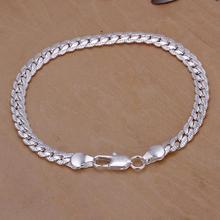 925 Silver Women Bracelets & Bangles,Beautiful925 Silver Fashion Jewelry 5 M Sideways Bracelet.Free Shipping Wholesale(China (Mainland))