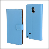 Genuine Wallet Stand Leather Case Cover for Samsung Galaxy Note 4 with 11 Kinds + free shipping