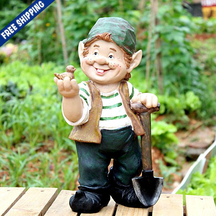 Nain De Jardin Miniature >> Christmas Elf Garden Statue Outdoor