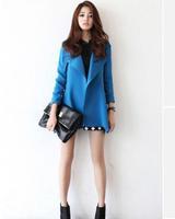 2014 New Hot Fashion Women Coat Slim Women Jackets Outwear Wool Winter Women Clothing Plus Size Free shipping