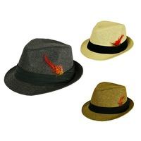Women's 2014 Church Hats Fedoras Kenducky Derby  Men's Trilby Women's Sun Hat Girl's Tea Party Hat  Three Colors 3 Sizes