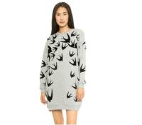 Free Shipping  Plus Size Women Sweatshirts Fashion Irregular Swallow Print Jersey Autumn Hoodies 2014 Casual Sweatshirt