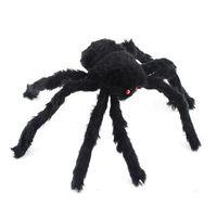 Free Shipping 30cm Black Spider Plush Puppet Toy / Halloween Decor 95704