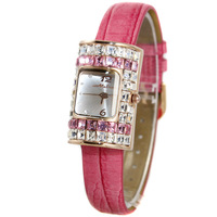 Melissa Lady Wrist Watch Woman Hours Quartz Fashion Dress Bracelet Rectangle Candy Icecream Luxury Rhinestones Crystal Gift