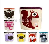 Children's cartoon animals receive bag waterproof storage bag Super perfect cotton canvas locker toy box