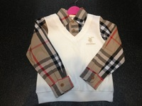 Free  Shipping  Retail  Brand  fashion  spring/autumn  children's  hoodies  long  sleeve   plaid  pattern  boy's  hoodies