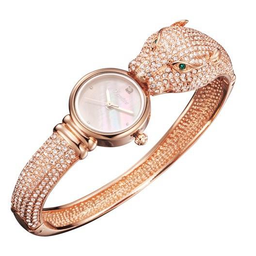 Kenzina Lady Wrist Watch Women s Hours Quartz Top Fashion woman Dress Leopard Bracelet Panther Luxury