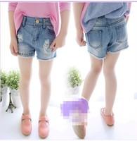 baby children's clothing Denim pull children girl lace shorts kids bermuda infantil menino