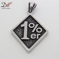 Wholesale New Fashion Outlaw Biker One Pencent 1%er Pendants Punk Gothic Jewelry for Men 2014 1PCS, PD1113-1