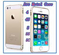 Arc Aluminum luxury Metal Bumper Case Ultra Thin 0.7mm Frame Bumper Cases For iPhone 4 4S 5 5S 5C