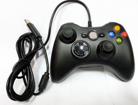 New Black Controller for windows wired controller compatible TV GAME console and windows pc free shipping USB gamepad control