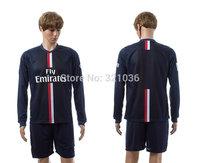 High  Quality  ibrahimovic    Home   Away   Long Sleeve   2015    Soccer Jerseys      Football  Kit  Free Shipping