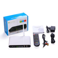 FREE SHIPPING DVB-T2  T2 android tv box DDR3 1G choosable Android 4.2 with WIFI  support Bluetooth