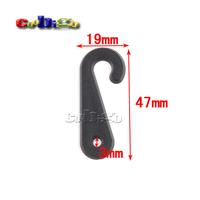 1000pcs Pack 47*19mm Black Plastic Sock Hook Hanger For Sock Stocking Packaging And Displaying #FLC230C-B