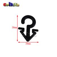 200pcs Pack 30*20mm Plastic V-shaped Sock Hook Hanger For Sock Stocking Packaging and Displaying #FLC231A-B