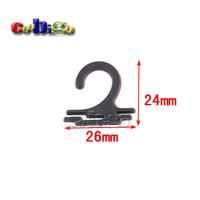 200pcs Pack 26*24mm Plastic Sock Hook Hanger For Sock Stocking Underwear Accessories Packaging #FLC231B-B