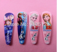 Free Shipping 40pcs Frozen Anna elsa Girl Headwear Female Hair Accessory Wafer Side-knotted Clip Hairpin