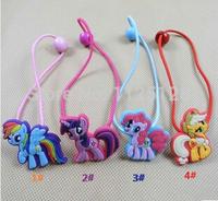 40pcs/lot My Little Pony Girls Elastic Hair Bands Fashion Cartoon kids lovely headwear& Accessories