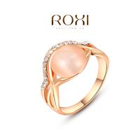 ROXI Christmas Gift 18k  Gold Silver Plated Ring,2014 Fashion Imitation Diamond Opal Wedding Rings For Women