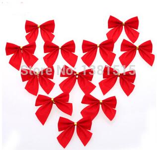 12pcs/lot Christmas Decoration Christmas tree Bow Pendant + free shIpping(China (Mainland))