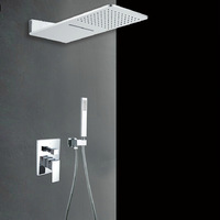 2-way shower set with pre-install shower box valve panel Bathroom concealed wall mounted
