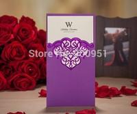 2015Teda CW2009 Wishmade Best Sale Laser Cut Wedding Invitation Card