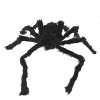 Black Spider Halloween Prop Big Spider Webbing Indoor Outdoor Bar Decoration   95706