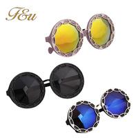 3 Colors Colors 2014 Sale Designer Blue Mirrored Sunglasses Men Mirror Vintage Round Sunglasses Women Glasses Hot#