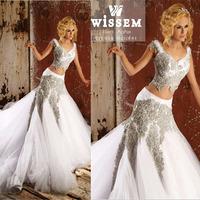 Vestido de noiva Two Pieces Mermaid Trumpet Wedding Dresses Gowns Abaya Dubai