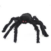 Black Spider Halloween Prop Big Spider Webbing Indoor Outdoor Bar Decoration   95704