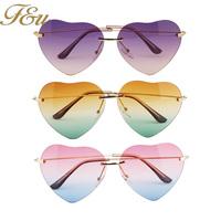 2014 Heart Shaped Sunglasses WOMEN metal Reflective LENES Fashion sun GLASSES MEN sports Mirror oculos de sol