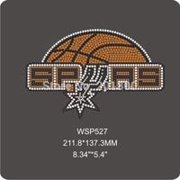 rhinestone transfer designs spurs basketball rhinestone heat transfers WSP527