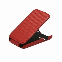 10pcs/lot Free Shipping New Carbon Fixed Flip PU Leather Case for Samsung Galaxy Young 2 G130