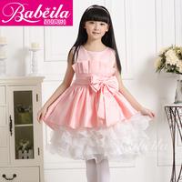 15 2014 pink white  flower girl dresses for weddings ball gown girls pageant dresses prom dress children vestido de daminha