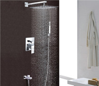 """3-way shower set pre-install shower box valve panel with arm stainless steel 10""""shower head 7003A"""