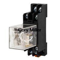 Plastic Housing DPDT DC 12V Coil Electromagnetic Power Relay w Socket