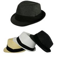 2014 Church Hats Fedoras Men's Trilby Women's Sun Hat Linen Tea Party Hat  Christmas Gift fedora hat 3 Colors 3 Sizes