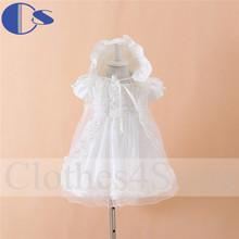 Baptism Dress 3 Pcs Set Christening Gown Baby Girls Dress Vestidos De Bebe Vestidos Baby 2014 Vestido Batizado Christening Dress(China (Mainland))