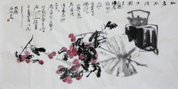 Free shipping China rice paper painting Original famous Artist Chinese art Collection wall decoration painting xuan paper fruit