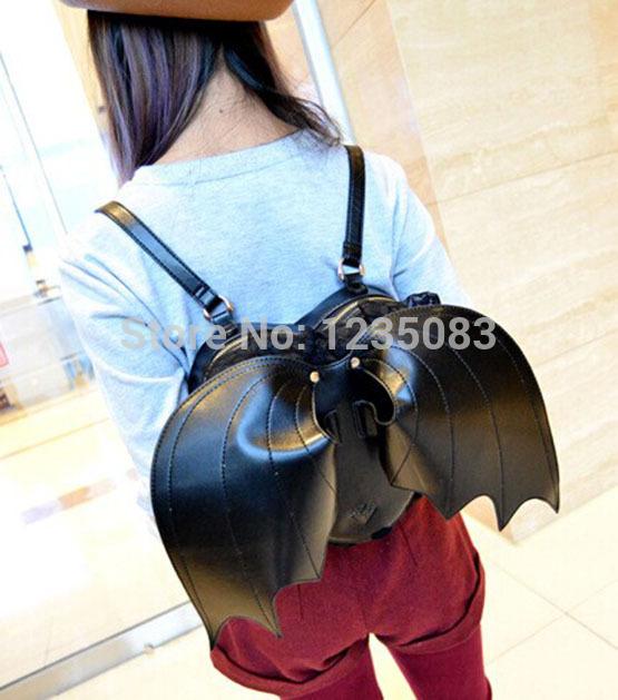 Bat Heart Backpack Heart-shaped With Bat