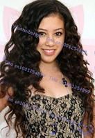 Stock! Free shipping top 6a grade #1b 18inch virgin brazilian loose wave lace front human hair wigs