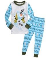 New Arrival 2014 Frozen Olaf Pajama Set 2-7 Age Kids Clothing Children Nightie/Pyjamas Clothing Sets Children set