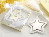 Creative stainless steel bookmarks European star gift box wedding guests party favor grace CN post