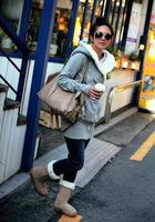 2014 new Autumn Winte Women Hoodies Coat Warm Zip Up Outerwear Sweatshirts 2 Colors Black Gray sweatshirt dress free shipping
