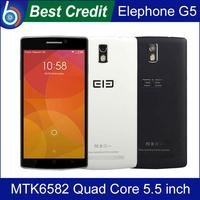 Back Cover)Gift!Original Elephone G5 5.5 inch IPS 1280*720 MTK6582 Quad Core Mobile Phone 8GB ROM Dual Camera 13.0MP OTG FM/Kate